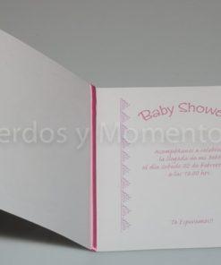 Díptico Baby shower